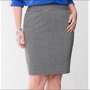 Lane Bryant houndstooth pencil skirt